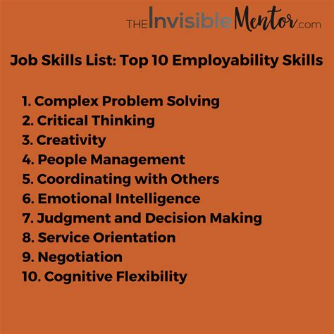 skills list top 10 skills to thrive in the future
