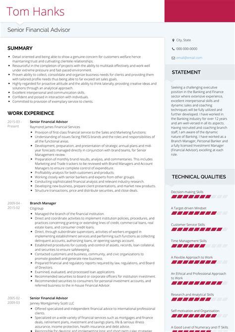 financial advisor resume samples  templates visualcv