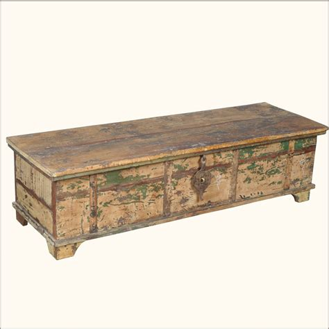 distressed trunk coffee table large rustic reclaimed distressed old wood coffee table
