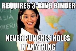 Requires 3-ring binder Never punches holes in anything ...