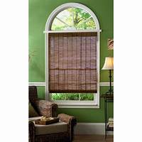 bamboo roman shades Hampton Bay Caramel Simple Weave Flatstick Bamboo Roman Shade - 23 in. W x 72 in. L-0212010 ...