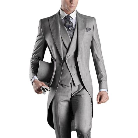 custom wedding suits new arrival italian tailcoat gray wedding suits for groomsmen suits 3 pieces groom