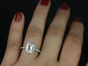 Emerald Cut Diamond Engagement Ring On Hand Hd Engagement ...