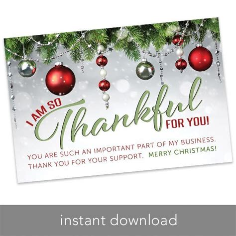 holiday thank you card 4 quot 6 quot merry christmas itw visions