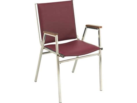 Xl Vinyl Stacking Arm Chair Kfi-411v, Stacking Chairs