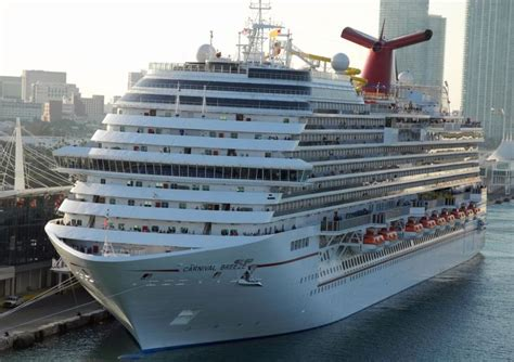 Carnival Breeze  Itinerary Schedule, Current Position