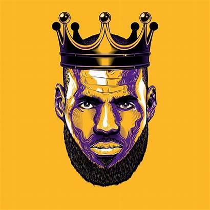 Lebron James Lakers King Basketball Behance Artwork