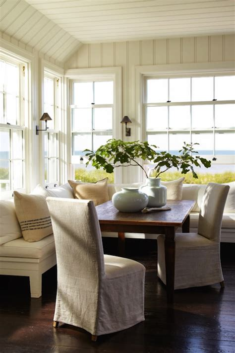 L Shaped Banquette - l shaped banquette cottage dining room sawyer berson