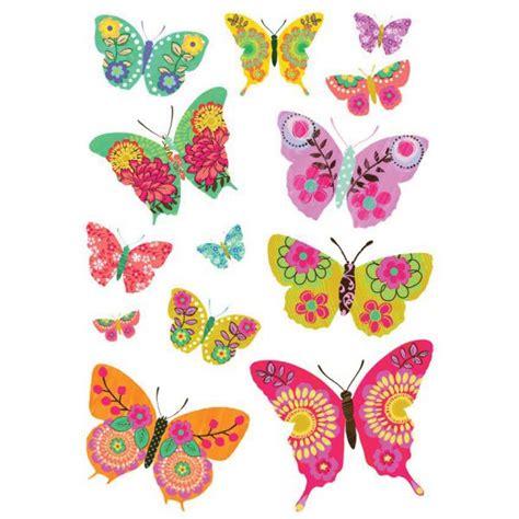 choix de couleur pour cuisine stickers papillon multicolores stickers chambre original