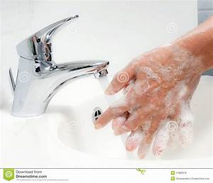 Washing Hands With Soap And Water Royalty Free Stock ...