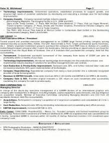 resume exles for seniors resume sle 8 senior executive resume career resumes
