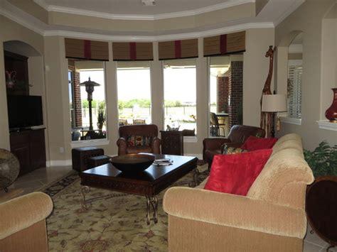 window treatments traditional living room houston
