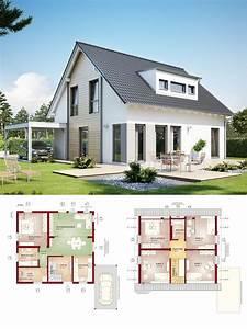 Haus Mit Gaube : einfamilienhaus neubau satteldach architektur mit gaube ~ Watch28wear.com Haus und Dekorationen