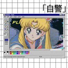 aesthetic ecchi Vaporwave edit Sailor Moon
