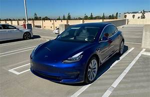 Blue Model 3 with ceramic coating and ceramic tinting 15% – Tesla Model 3 Wiki