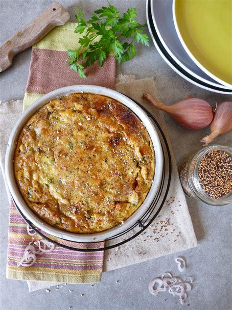cuisine sans gluten quiche sans pâte sans gluten aux brocolis au tofu et