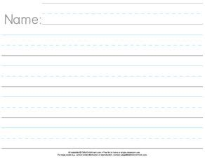 Prek Handwriting Paper Download  Kindergarten Paper Horizontal  My Girls  Pinterest Kid