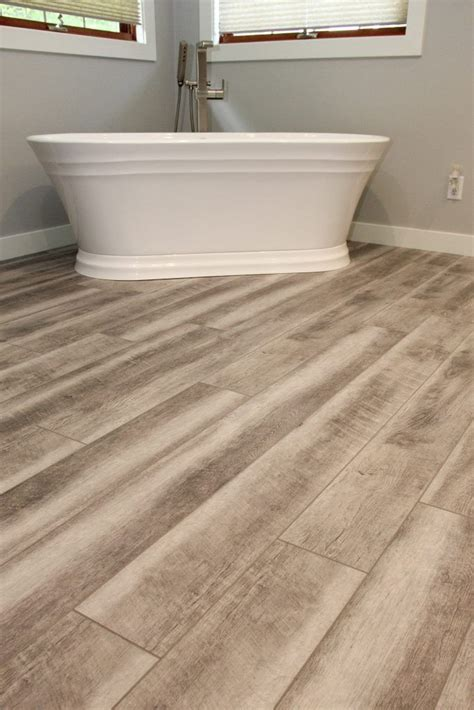 driftwood luxury vinyl plank bathroom floor luxury vinyl