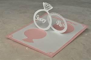 wedding invitation pop up card linked rings creative With wedding invitation pop up card linked rings tutorial
