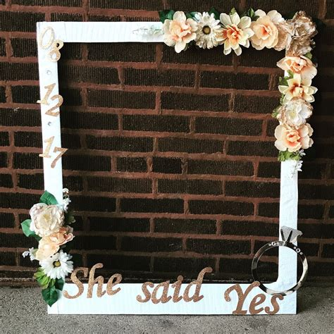 diy bridal shower photo booth frame party ideas in 2019