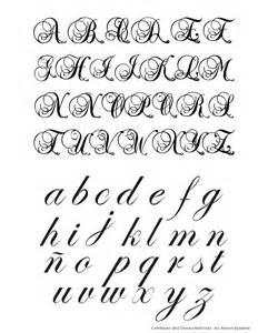 Fancy Calligraphy Script Alphabet Letters
