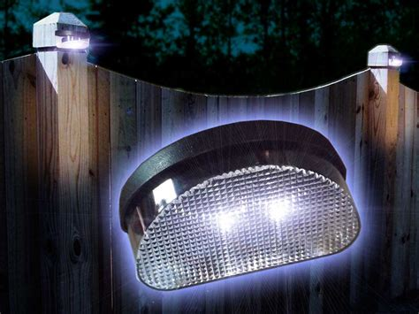 2x fence post or wall mounting solar garden led lights