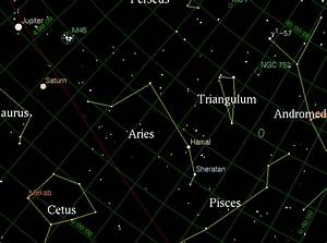 The Constellation Aries - by Astronomy Net