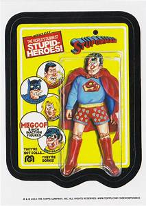 2014 WACKY PACKAGES OLD SCHOOL 5th SERIES **STUPID-HEROES