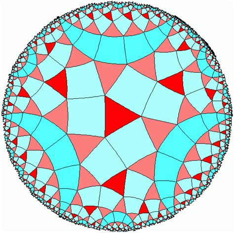 tiling of the hyperbolic plane geometry pinterest