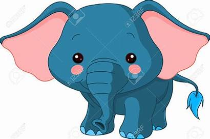 Cartoon Elephant Clipart Zoo Ears Fun Character