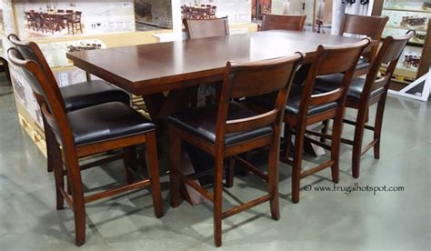 costco dining table in store costco hillsdale furniture 9 pc counter height dining set