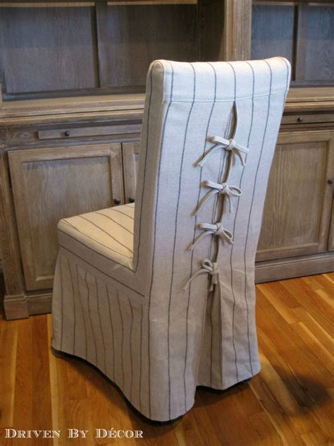 dress   dining chairs corseted slipcovers driven