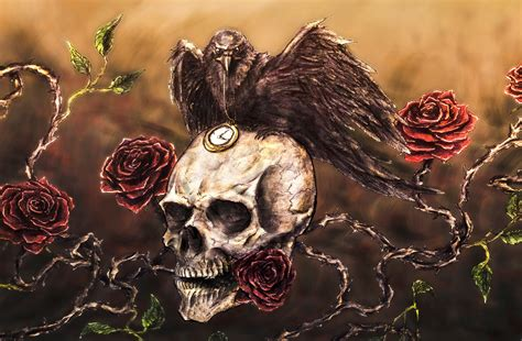 Raven Skull By Muppza On Deviantart