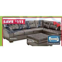 save 111 on simmons manhattan sectional sofa at big lots