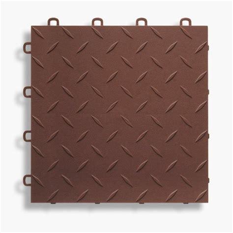 Brown Garage Flooring Tile