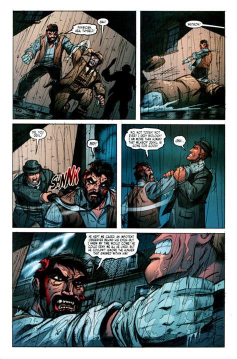 hyde jekyll comic undead sherlock holmes victorian vs laboratory pm graphic