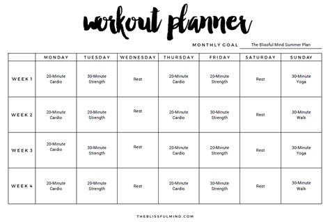 workout calendar template 9 excel workout templates excel templates