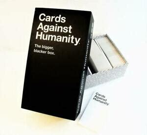 Check spelling or type a new query. Cards Against Humanity The Bigger Blacker Box (With Cards) Used Game Set | eBay