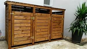 Tonne Aus Holz : m lltonnenbox aus holz f r 3 m lltonnen 240l m lltonnenverkleidung neuware top ebay ~ Watch28wear.com Haus und Dekorationen