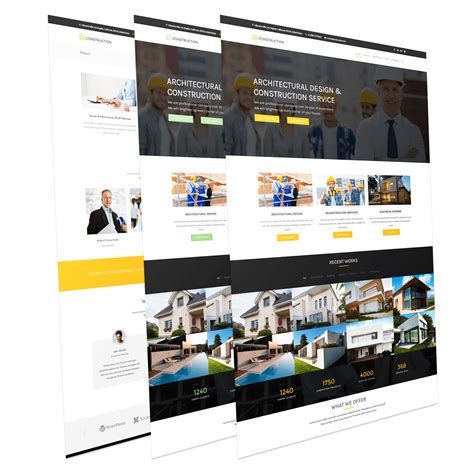 Simple Construction Html Template by 5 Beautiful Free Responsive Joomla Template To Build