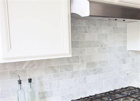 tumbled marble backsplash 3 polished white carrara