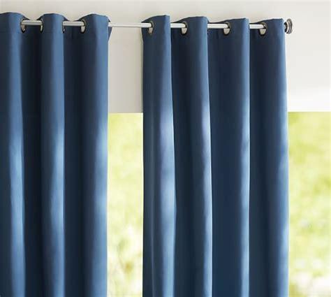 pottery barn sunbrella outdoor curtains sunbrella 174 solid indoor outdoor grommet drape pottery barn