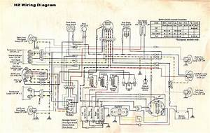 Wiring Diagram Kawasaki H2 Triple Engine Electrical  59478
