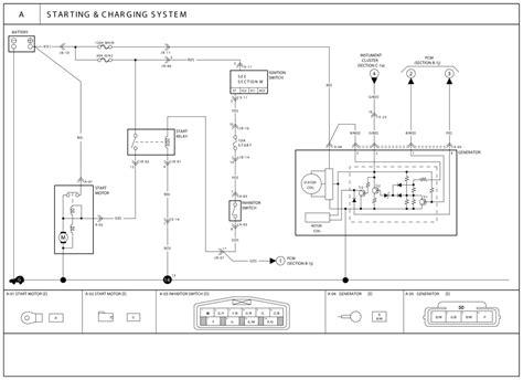 kia  alternator wiring diagram
