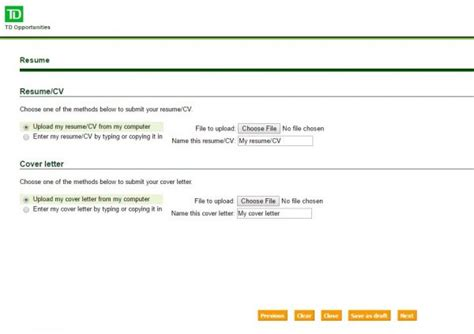 td bank customer service representative resume