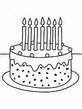 Cake Coloring Birthday Pages Printable Holiday Recommended Mycoloring sketch template