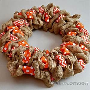 How to Make a Burlap Wreath With Accent Ribbon   Orange ...