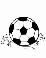 Soccer Coloring Pages Ball Printable Balls Template Templates Info Bestcoloringpagesforkids sketch template
