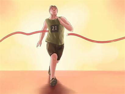 Race Win Sprinting Wikihow Step Steps