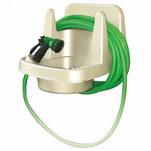 Maze Wall Mounted Outdoor Sink With Hose Hanger